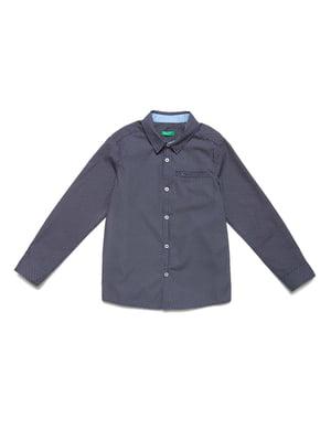 Рубашка синяя с принтом | 5151172