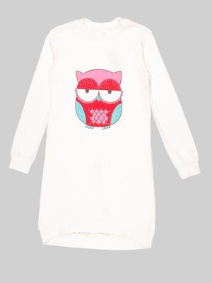 Рубашка ночная бежевая | 5163550