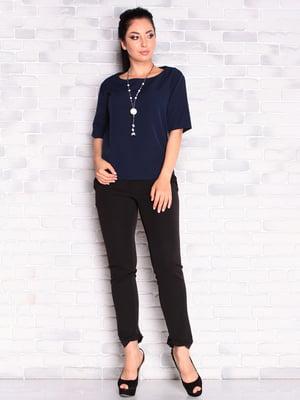 Блуза темно-синяя | 5165257