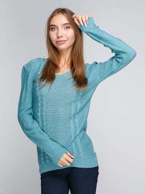 Пуловер бирюзовый | 5163098
