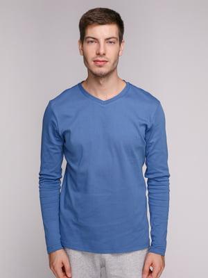 Лонгслив синий | 5163586