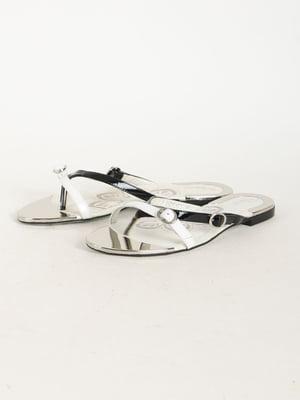 Шлепанцы-вьетнамки черно-белые   5165952