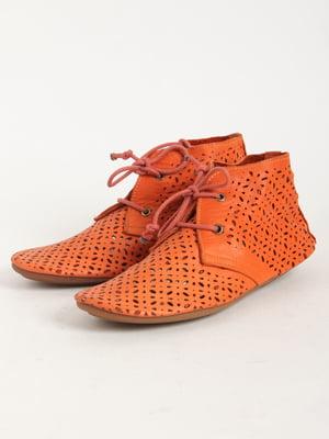 Ботинки оранжевые | 5166196
