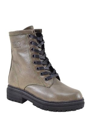 Ботинки зеленые | 5167820