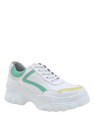 Кеды бело-зеленые | 5167877