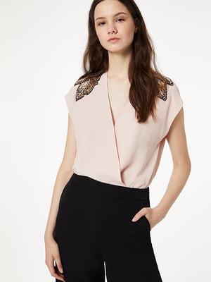 Блуза пудрового кольору | 5152548