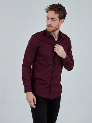 Рубашка бордовая | 5154495