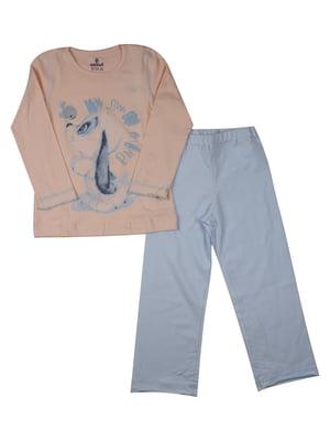 Пижама: лонгслив и брюки | 5168479