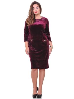 Платье бордовое | 3747030