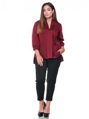 Блуза бордовая | 3747137