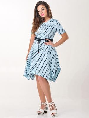 Сукня блакитна в горох   4238957