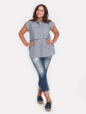 Блуза синяя | 4627998