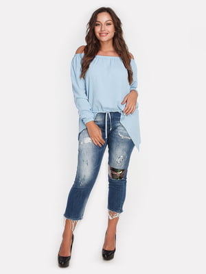 Блуза голубая | 4652250
