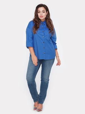 Рубашка цвета электрик | 4977647