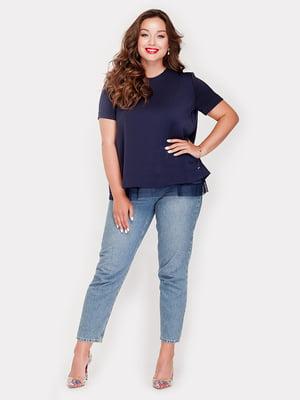 Блуза синяя | 5168664