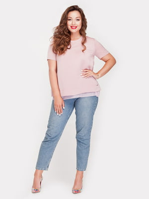 Блуза фрезового цвета | 5168665