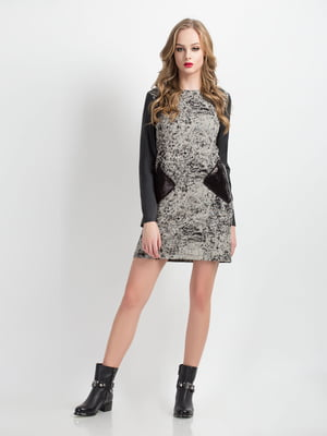 Платье серое в принт | 5169363