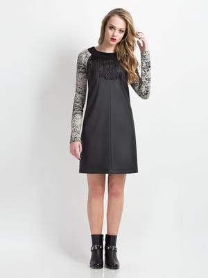 Платье черное с принтом | 5169365