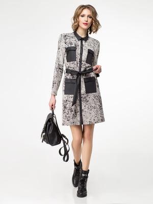 Платье серое в принт | 5169366