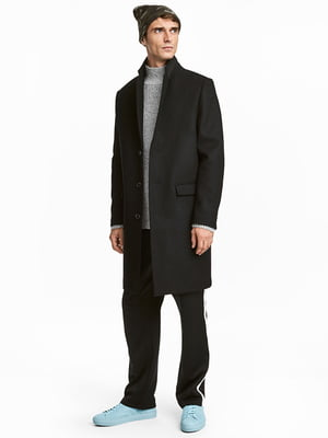 Пальто шерстяное черное | 5169172