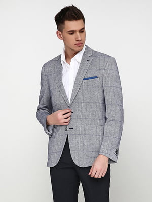 Пиджак серо-синий   5169180