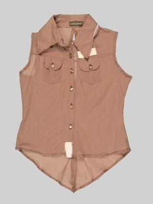 Блуза коричневая | 3168539
