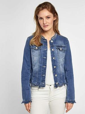 Джинсовая куртка синяя | 5168437