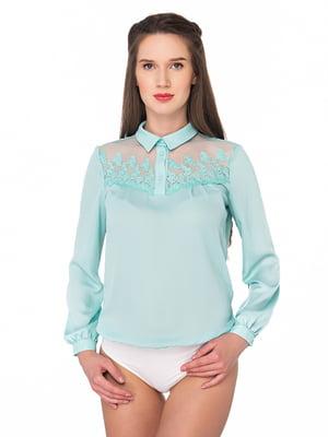 Блуза-боді бірюзова | 5170242