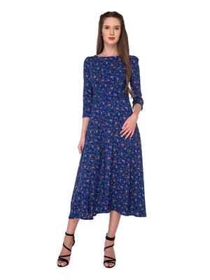 Платье синее в принт | 5170247