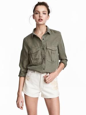 Рубашка цвета хаки   5171877