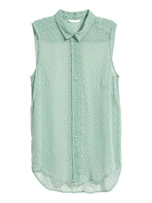 Блуза кольору м'яти | 5172200