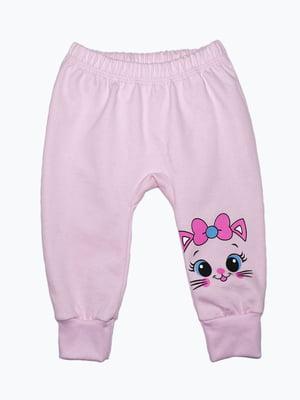 Штани рожеві з принтом | 5175694