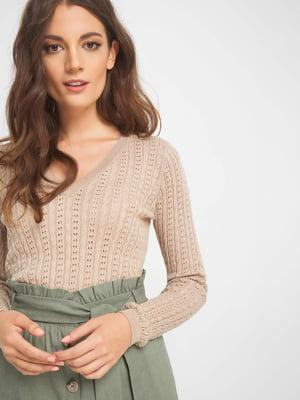 Пуловер бежевий | 5175888