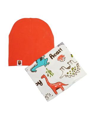 Комплект: шапка та шарф-снуд | 5177334
