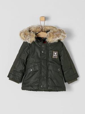 Куртка темно-зелена | 5177119