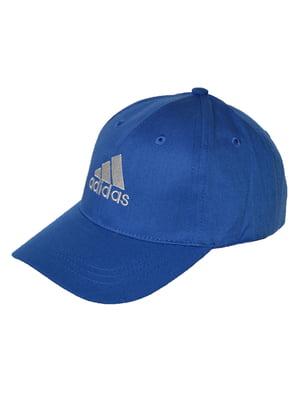 Бейсболка синяя с вышивкой | 5155390
