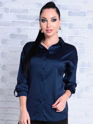 Блуза темно-синяя | 5177584