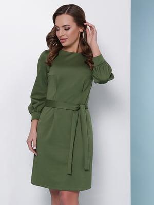 Платье оливкового цвета | 2957260