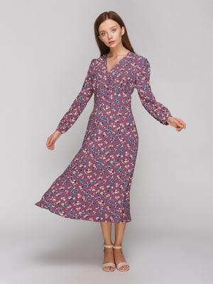 Платье в цветочный принт | 5177762