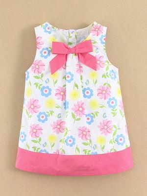 Платье белое в цветочный принт - Mom & Bab - 4490867