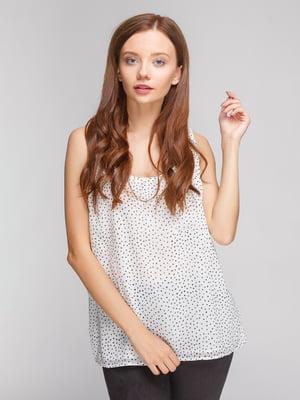 Блуза біла в принт   4552664
