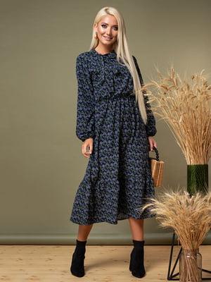 Сукня темно-синя в квітковий принт   5179566