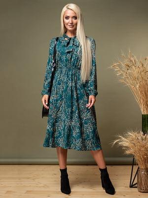 Сукня зелена в принт   5179568
