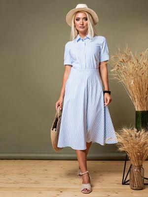 Сукня блакитна в смужку   5179579