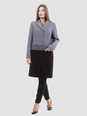 Пальто серо-черное | 5179963