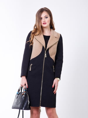Пальто черно-бежевое   5179981