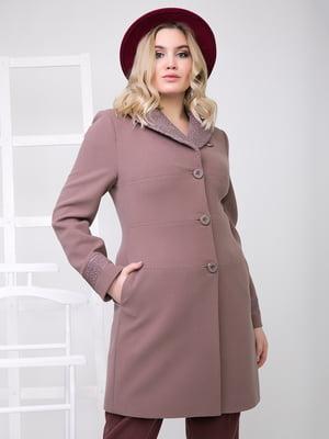 Пальто дымчато-бежевое | 5179969