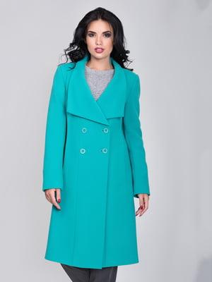 Пальто бирюзовое | 5179975