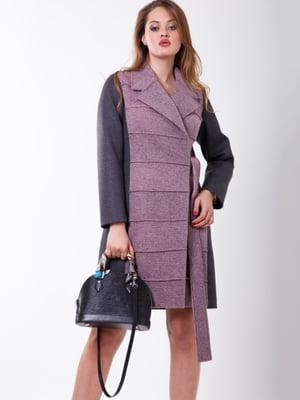 Пальто серо-розовое | 5179977