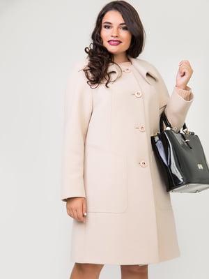 Пальто молочного цвета | 5179983